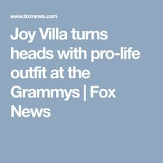 Joy Villa turns heads with pro-life outfit at the Grammys | Fox News
