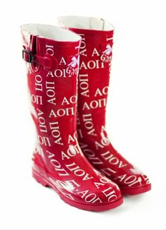 Alpha Omicron Pi Rain Boots SALE $45.95. - Greek Clothing and Merchandise - Greek Gear®