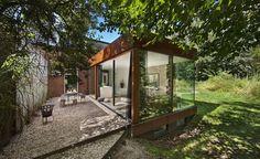 Converted railway cottage in Santpoort-Noord, Netherlands.