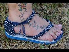 Resultado de imagem para imagem de chinelo bordados em perolas