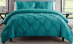 Monica Pin Tucked Duvet Set (2 or 3-Piece)