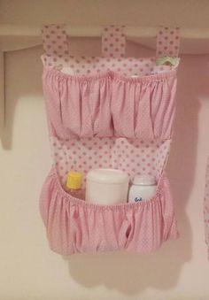 porta fraldas e porta treco de tecido menina rosa e cinza - Pesquisa Google