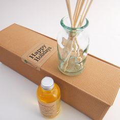 Ambra diffusore olio Refill, riciclare e opzioni di vaso a mano fragranza floreale per la casa con canne non tinti naturali