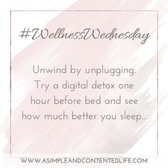 wellness wednesday Discover the power of a digital detox. Get a bett… Wellness Wednesday Discover the power of … Wellness Quotes, Wellness Tips, Health And Wellness, Mental Health, Social Media Detox, Wednesday Motivation, Digital Detox, Morning Affirmations, Self Care Activities