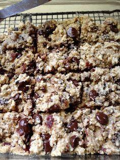 Feeding Ger Sasser: Paleo Bacon Chocolate Chip Bars