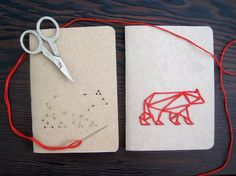 DIY Embroidery Kit In The Woods Set of Two por CuriousDoodles