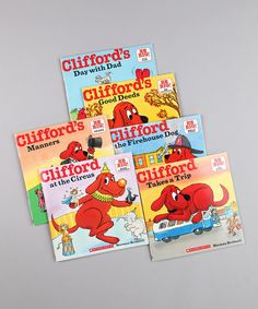 Scholastic Clifford paperback set on Zulily.