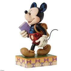 4054284 Mickey Mouse with Flowers Mini Figurine #Red #Mickey #Red ...