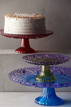 Color-Cut Cake Stand #anthrofave #anthropologie