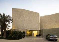 """Project Wall House Type Residential Location Khaldiya, Kuwait Area 2500 sq m Architecture Firm AGI Architects Photography Nelson Garrido Year 2015 Awards: ICONIC Award 2016 Winner in the """"Archite Brick Architecture, Contemporary Architecture, Contemporary Houses, Residential Architecture, Contemporary Design, Agi Architects, Best Modern House Design, Modern Design, Stone Facade"""