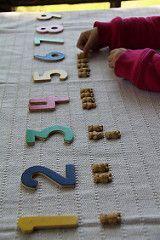 A számok és Teddy Graham számlálók (Fotó Chasing Cheerios)
