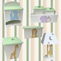 Router Projects, Kit Bebe, Baby Box, Safari, Baby Decor, Decoupage, Baby Shower, Shelves, Crafts