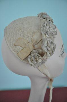 vintage floral hat 1940s natural crown
