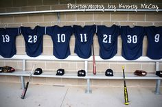 A way to wish outgoing senior baseball players farewell.  This represents all of the senior boys who'll be hanging up their jerseys to move on from high school soon.