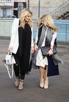 Sheinside Long Vest, Zara Skirt, Peter Kaiser Booties, Zara Scarf, Zara Bag, Zara Shirt