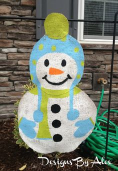 Snowboy Burlap Garden Flag.