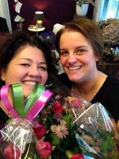 Zomaar bloemen ontvangen van vrienden is altijd leuk!
