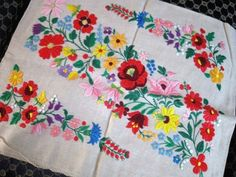 Hungarian embroidered pillowcase