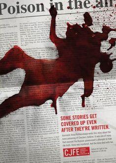 cover up, express cjfe, canadian journalist, advertis, poster, free express, ad design, design blogs, print
