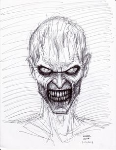 Zombie+Drawings+in+Pencil | zombie pen sketch 2 21 2013 by myconius traditional art drawings ...