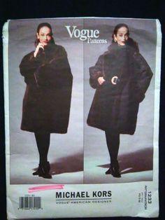 1233 Vogue American Designer Michael Kors Reversible Coat Pattern XS S M Vogue Patterns, Coat Patterns, Clothing Patterns, Michael Kors Designer, Sewing Patterns For Kids, Miss Dress, Oversized Coat, Pattern Fashion, American