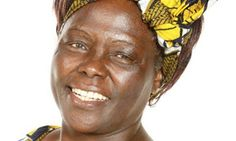 Wangari Maathai, who received the Nobel Peace Prize for her involvement in the Green Belt Movement
