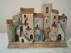 DOMINIQUE GAULT FRENCH FRANCE MINIATURES HOUSES STREET SCENE