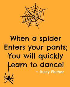 Spiders dance... A Halloween poem