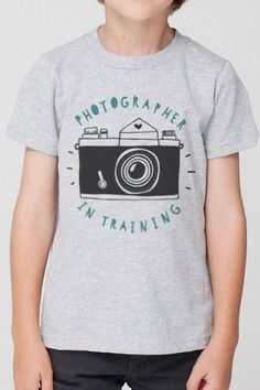 Photographer in Training Kids Boy Tee - camera tee