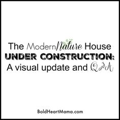 BoldHeartMama: The Modern Nature House: a visual update and Q&A