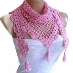 Items similar to Crochet Lace Scarf valentine Holiday Accessories fashion trends unique gift Mothers day Bamboo scarf Pink scarves on Etsy Crochet Lace Scarf, Crochet Scarves, Hand Crochet, Knit Crochet, Crochet Necklace, Crochet Triangle, Triangle Scarf, Tunisian Crochet, Crochet Granny