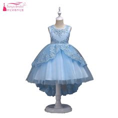 be0025448 US $37.05 5% OFF Aliexpress.com : Buy Light sky Blue Flower Girls Dresses  High Low Lace Tulle Kids Ceremony Dresses 6 Colors holy communion dresses  for ...