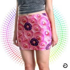 Minissaia Sweetest Thing  http://stereogramclothing.lojaintegrada.com.br/produto/sweetest-thing-minissaia.html #donuts #print #minissaia #miniskirt