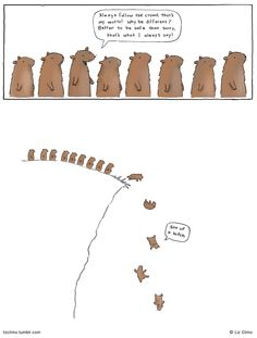 Better to be safe than sorry ... Drawing by Liz Climo ...