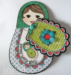 This is so cute with the new baby inside the matryoshka doll!!