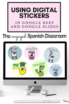 In a hybrid or remote learning environment, building connections with students is more difficult than ever. I have had success using digital stickers as rewards; a simple step to making connections with my students when we can't be face to face. Click through to read my suggestions for designing them, or to find options I have for you! I have designs available in English, French, and Spanish. Great for middle and high school language classes! Study Spanish, How To Speak Spanish, Spanish 1, Spanish Classroom, Teaching Spanish, Language Classes, Middle School Spanish, Making Connections, Spanish Activities