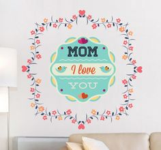 Beautiful sticker for surprise your Mom! #decoration #sticker #Mom