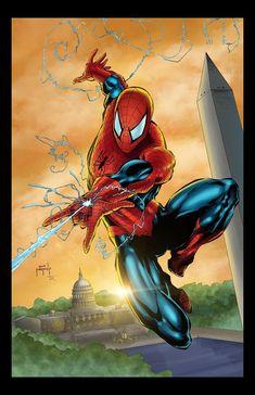 Spider-Man by Jason Metcalf #JasonMetcalf #SpiderMan #Avengers #PeterParker #DailyBugle #WebSlinger #WashingtonMonument #USCapital #WashingtonDC