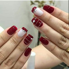 43 Unique Spring And Summer Nails Color Ideas That You Must Try 21 Holiday Nails, Christmas Nails, Red Nails, Hair And Nails, Valentine Nail Art, Cute Nail Art Designs, Flower Nail Art, Manicure E Pedicure, Pretty Nail Art