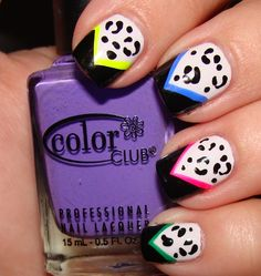 80s inspired nails