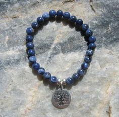 Sodalite Mala Bracelet prayer beads rosary with by LotusJewels, $15.99