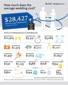 Average wedding budgets (these people are crazy -- we will not be sending this much on most categories)