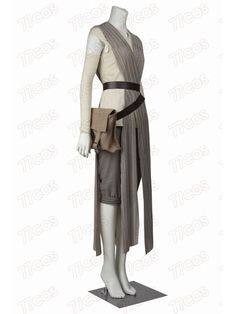 Star Wars The Force Awakens Rey Dress Cosplay Costume Outfit