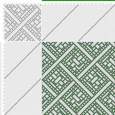 draft image: Figure 690, A Handbook of Weaves by G. H. Oelsner, 40S, 40T