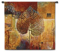 Abstract Autumn Leaf Wall Tapestry
