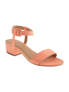 Sueded Heeled Sandal for Women Product Image
