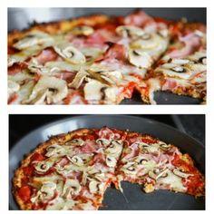 Rezept für eine Blumenkohl-Pizza | Low-Carb-Ernährung Low Carb Pizza, Hawaiian Pizza, Vegetable Pizza, Cabbage, Vegetables, Food, Mashed Cauliflower, Treats, Essen