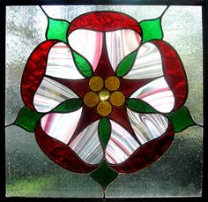 Stained Glass English Rose by bigblued.deviantart.com on @deviantART