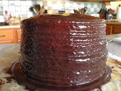 Whisky Old Fashioned Chocolate Cake with Whisky Buttercream