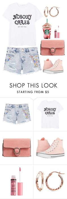 """""""I Don't Mind"""" by naviaux ❤ liked on Polyvore featuring MANGO, Converse and Charlotte Russe"""